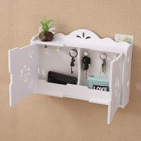 Simple and modern wall shelves hook free drilling living room decorative wall hanging key storage box finishing box