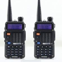 2pcs BAOFENG UV-5RT Walkie Talkie Black 128 Memory Channels Dual Band VHF / UHF 136-174 / 400-520MHz HamTwo Way Radio