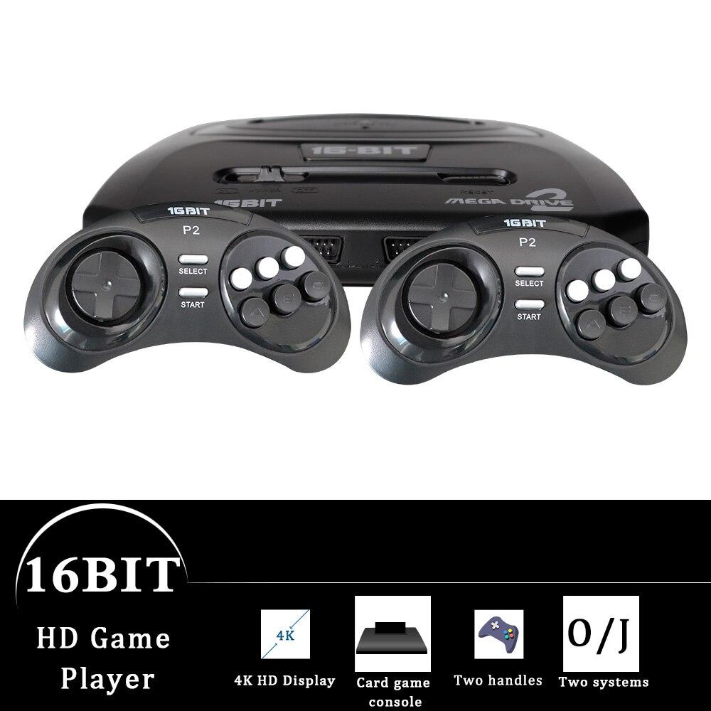 GTIPPOR 16BIT HD MEGA DRIVE2 MD2 TV jeu vidéo CONSOLE AVEC HDMI AV SORTIE 2.4G manette sans fil AVEC JEUX