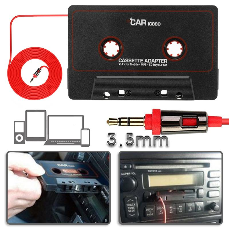 Energisch Neueste Auto Kassette Adapter Kassette Mp3 Player Konverter Für Ipod Für Iphone Mp3 Aux Kabel Cd-player 3,5mm Jack Stecker Gut FüR Energie Und Die Milz Heim-audio & Video