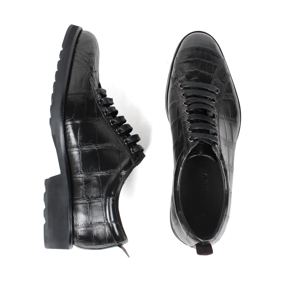 Vikeduo 2019 Handmade Fashion Luxury Shoes Black Genuine