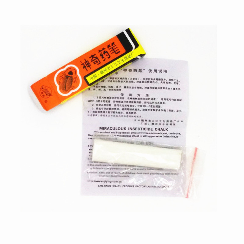 10Pcs/ Pest Control Anti Cockroach Killing Bait Box Miraculous Insecticide Chalk Pest Cockroach Roaches Magic Pen Odorless M002