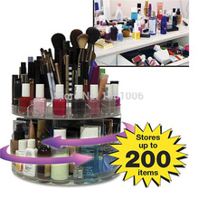 Hohe qualität kosmetische aufbewahrungsbox für frauen zubehör, make-up veranstalter, 360 grad dreht, halten bis zu 200 artikel, montieren CC003