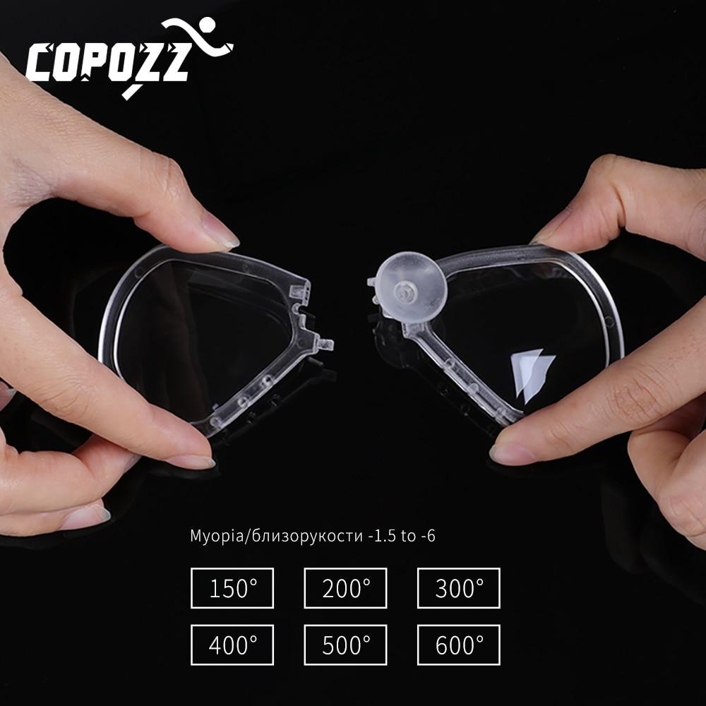Detachable Snorkel Mask Myopia Lens For Copozz Model 4910 4100 Professional Skuba Diving Mask Goggles Watersports Equipment