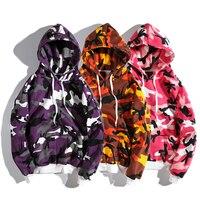 YouthCodes Purple Pink Camouflage Military Hoodies Men Kanye West Season3 Streetwear Camo Punk Rocky Fashion New Sweatshirts Men