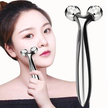 顔リフトローラーマッサージャー3D Y形ローラー美容ツール顔Face身しわリムーバーツールマッサージ器具3 dローラー