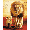 Frameless The Lion Animal DIY Painting By Numbers Kits Coloring Drawing Home Artwork Wall Art Pictur
