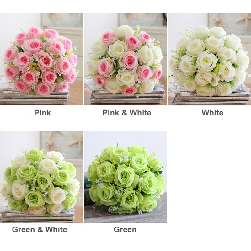 1 bouquet rose baby breath artificial flowers 36cm length 18 heads 1 bouquet rose baby breath artificial flowers 36cm length 18 heads wedding bridal home shop decorative fake flower pink white in artificial dried flowers mightylinksfo