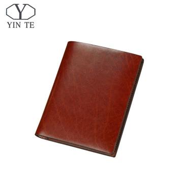 YINTE Fashion Men Short Wallet Brown Bifold Wallet Men Leather Card Holder Money Cash Wallet Purses Pocket Wallet Portfolio 830B