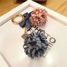 Camellia Flower Tassel Keychain