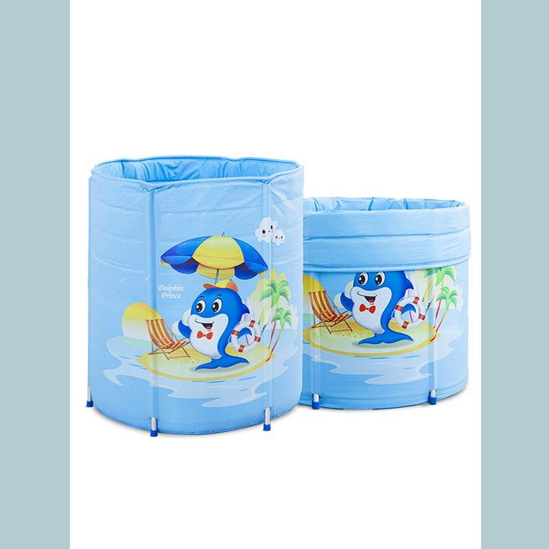 Type réglable gonflable de support de bébé isolation à la maison de piscine épaississement extra grand baril de baignoire double matériel de PVC