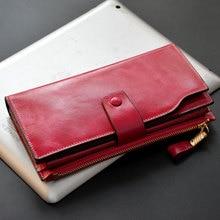 women long design genuine leather wallet bag female cowhide wallet bag candy color