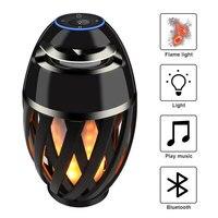 2018 neue LED Flamme Lampe Bluetooth Lautsprecher Touch Weiches Licht weihnachtsgeschenk MP3 Player Lautsprecher super bass Wasserdichte Lautsprecher