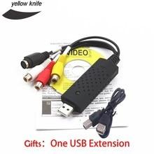 Free Shipping Pro USB 2.0 Video Easycap TV DVD VHS Capture Card Audio AV Adapter for Computer High Quality 9KNT 7CKQ