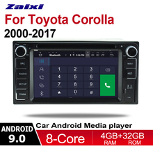 ZaiXi 2din Android 9.0 Octa Core 4GB RAM Car DVD For Toyota Corolla 2000~2017 GPS Radio BT Navi MAP Multimedia player system