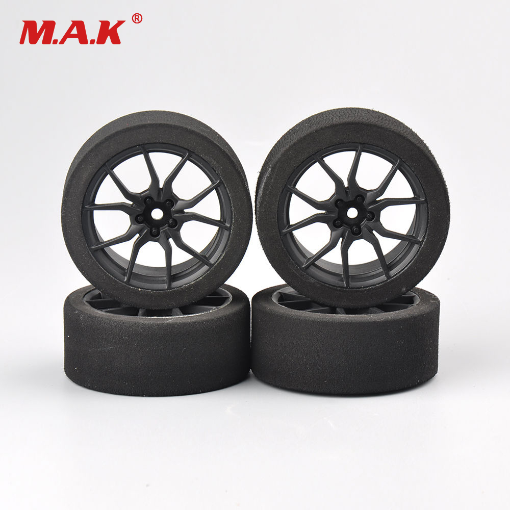 12mm Hex Competition Foam Tires and Rims Set <font><b>23003</b></font> for 1/10 On-road RC Racing Cars Accessories image