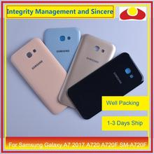 50 stks/partij Voor Samsung Galaxy A7 2017 A720 A720F SM A720F Behuizing Batterij Deur Achter Back Cover Case Chassis Shell Vervanging
