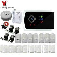 Yobangsecurity GSM сигнализация Системы 99 Беспроводной зон с ПИР дверь детектор Анти Вор домашний безопасности Русский Испанский итальянский Слова