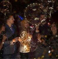 100 шт./компл. Новый светодиодный шары Bobo воздушный шар каждый набор включает в себя 20 дюймов светодиодный шар + 70 см стержень + 3 м светодиодный