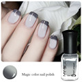 1 Bottle 6ml Color Changing Polish Gray to White DIY Varnish Beautiful Decorations for Nail Art