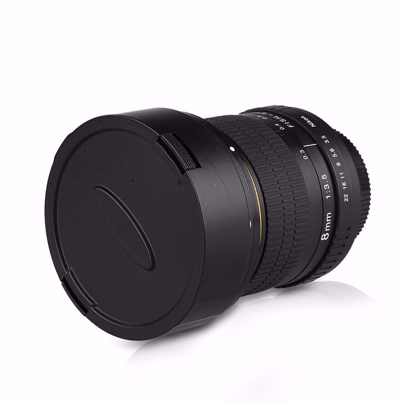 8mm F/3.5 Ultra Wide Angle Fisheye Lens for APS-C/ Full Frame Nikon D800 D700 D30 D50 D5500 D7000 D70 D90 D3 DSLR Camera 14