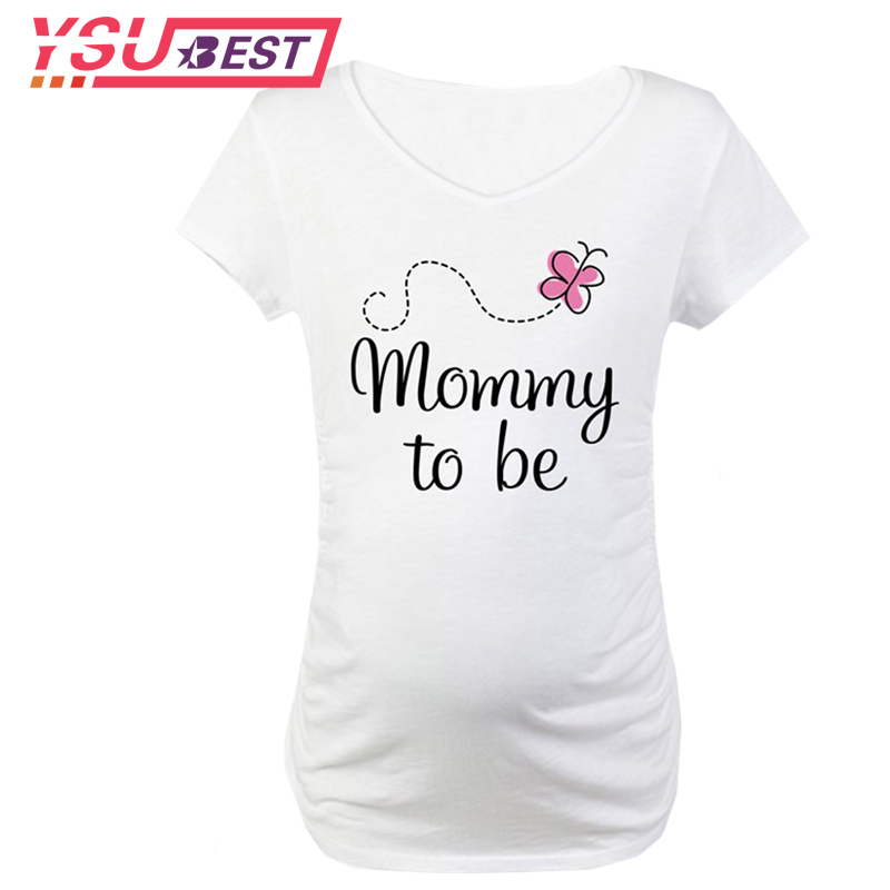 Pregnant Women Maternity Clothes Baby Is Coming Printed Tops Mom T-Shirt Top