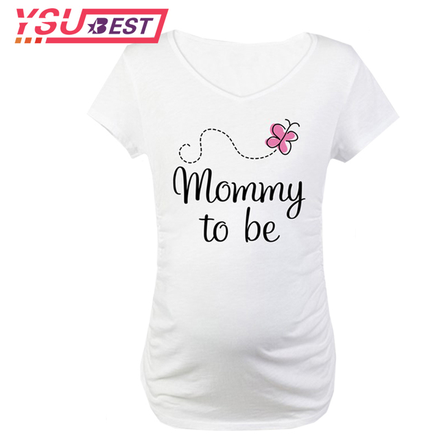 0cefd983d Pregnant T shirt Print Mommy to be Pregnancy Clothes Short Sleeve Maternity  Clothes Pregnant Women T Shirts Pregnancy Tee Shirt