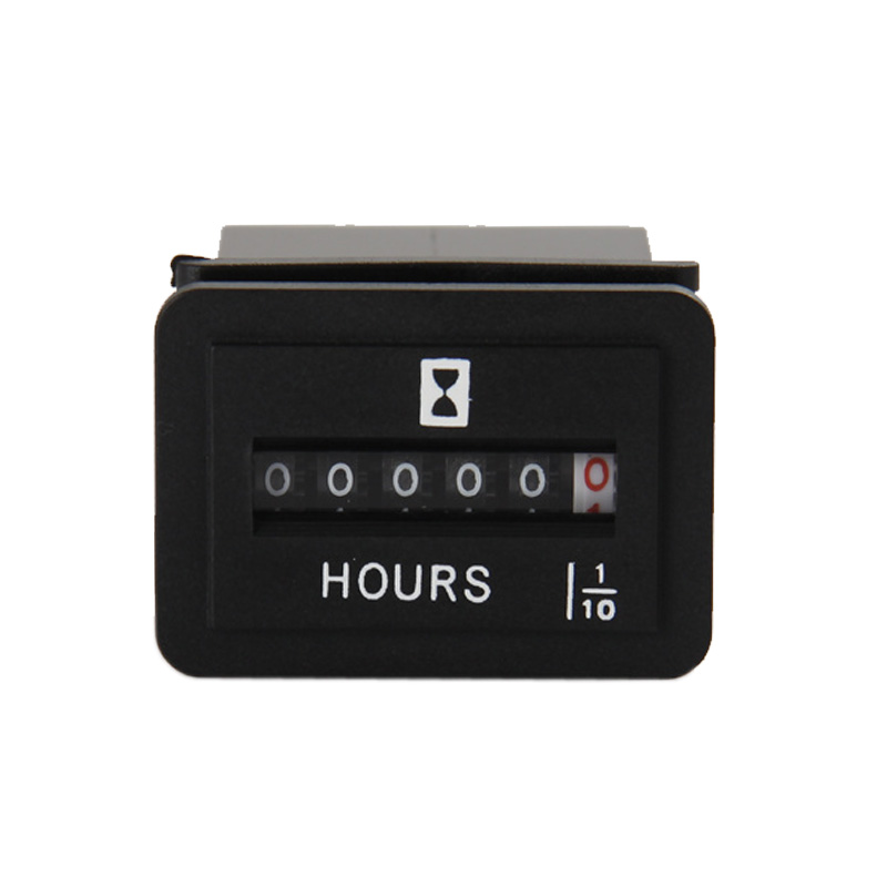 DC 6 50V Digital Mechanical Hour Meter RL HM001 For Generators Motors Diesel Engine Free shipping