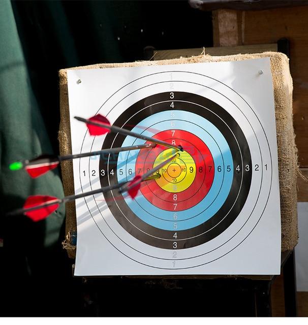 10 pcs 40*40cm Standard Archery Targets Paper Hunting Shooting Pratice Paper For Recurve Compound 4