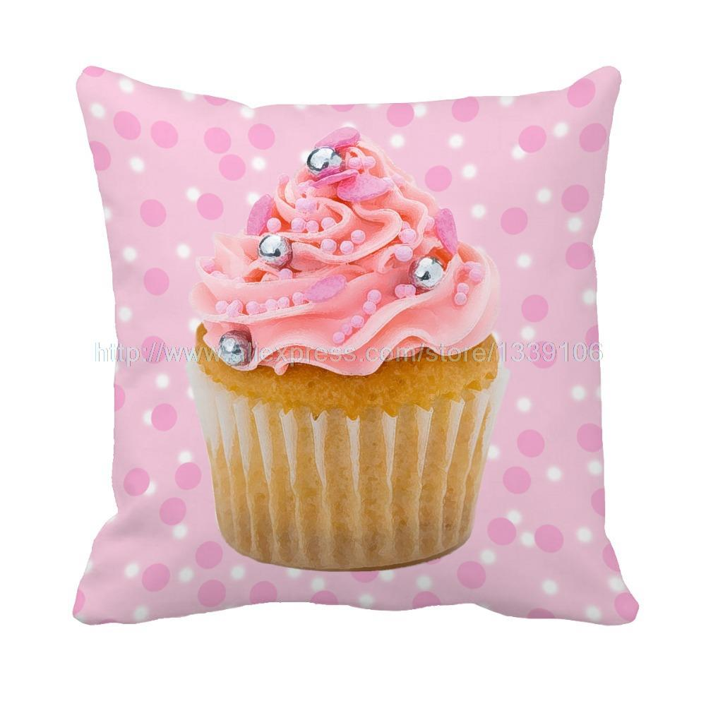 delicious cupcake temptation  print cushion home decor pillow sofa bedding decorative pillows for couch throw pillow for gift