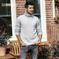SIMWOOD Turtleneck Sweater Men Slim Fit 2017 Autumn Winter New Knitted Pullover High Quality Casual Warm