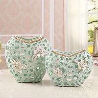 1 Piece Hollow Ceramic Flower Holder Lovely Jardiniere Home Decoration Ceramic Vase