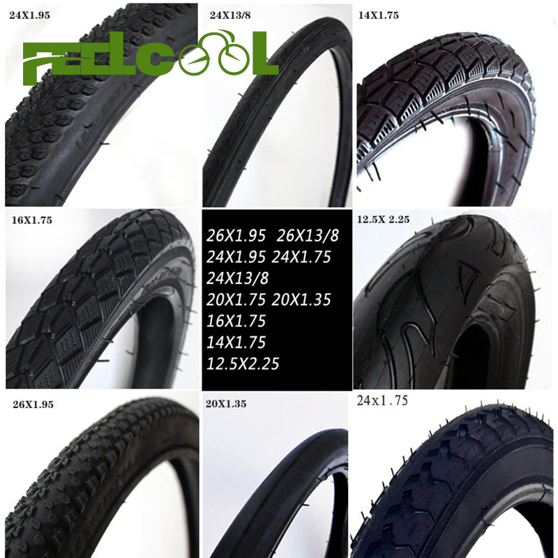 FEELCOOL MTB Bicycle Tires <font><b>26</b></font> x 1 3/8 Rubber Bicycle Tires Road Bike Tire <font><b>26</b></font>*1 3/8 image