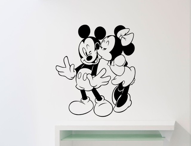 Mickey Mouse Muursticker.75 Mickey Mouse And Minnie Mouse Picture Zachary Kristen