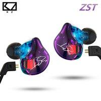 KZ ZST Pro Armature Dual Driver Earphone Detachable Cable In Ear Audio Monitors Noise Isolating HiFi