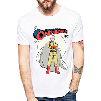 Men New Fashion Anime T shirt Brand Clothing Hip Hop One punch man Hero Comics Printed Men T Shirt Saitama High Quality T-Shirt
