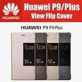 Без оправы 100% Оригинал Из Синтетического Пластика Кожаный Магнитный Окна Защитная Крышка для Huawei P9 Case Флип На Складе P9 Плюс