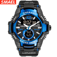 SMAEL Watches Men Sport Watch Man Big Clock Military Watch luxury Army relogio masculino Alarm LED Digital Watch Waterproof led quartz wristwatches luxury smael cool men watch big watches digital clock military army1436 waterproof sport watches for men