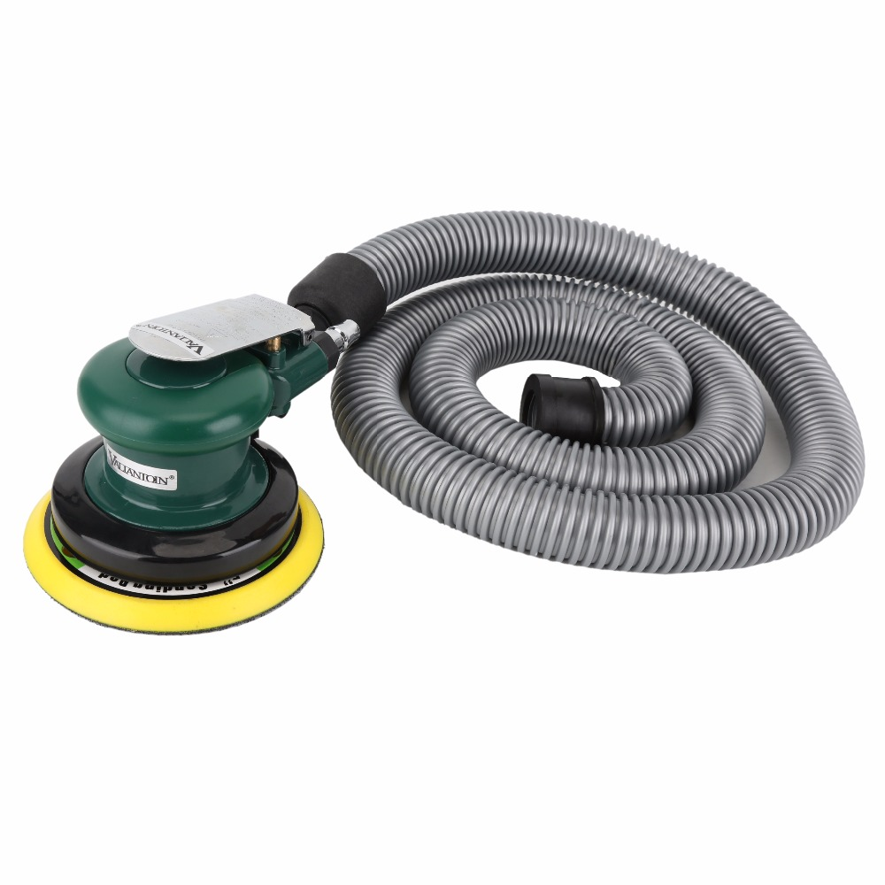 5''/6'' Air Sander with Vacuum 125mm/150mm Pneumatic Sander Air Sanding Machine Pneumatic Tools Pneumatic Polishing Machine vacuum type 125mm pneumatic sanding 5 inch disc type pneumatic polishing machine sand machine bd0128