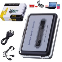 Original EZCAP Analógica USB Cassette Tape to MP3 Digital Portátil para el iphone iPad PC Converter Captura de Audio Estéreo Reproductor de Música