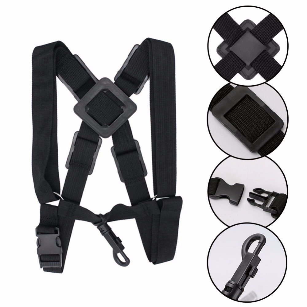 Professional Adjustable Harness Shoulder Black Sax Saxophone Belt Neck Strap For Alto / Tenor / Soprano Saxophone Accessories