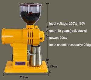 Image 4 - Molinillo de café de 10 velocidades, fresa de dientes fantasma, rectificadora fina gruesa de 220V/ 110V