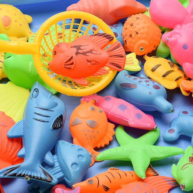 41pcs With Inflatable pool Magnetic Fishing Toy girl Rod Net Set For Kids Children Model Play Fishing Games Outdoor Toys for boy
