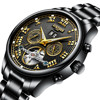 Splendid Mens Watches Top Brand Luxury Hollow Skeleton Automatic Watch Calendar Watch