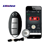 Liislee for NISSAN X Trail full intelligent remote keyless entry engine start smart remote control key one button start