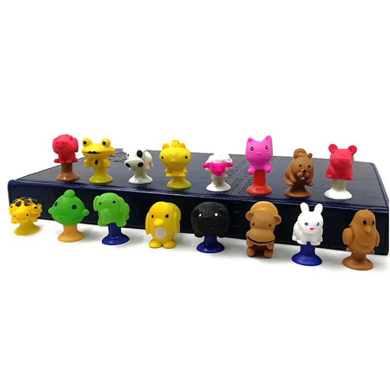 2 ピース/ロットミニモンスター吸盤カプセルモデルリトル漫画アニメ動物アクションフィギュア吸引カップのおもちゃ子供