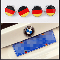 1Set Frame for License Plate Car Styling German Flag Car License Plate Bolts Screws with Gasket Modification For Car Accessories