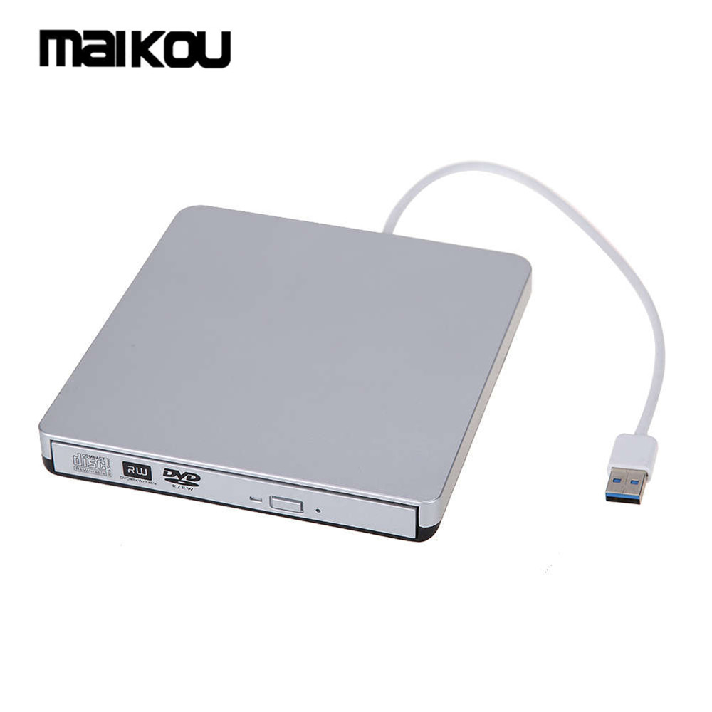 Maikou New USB3.0 Slim External Driver CD+-RW DVD+-RW DVD-RAM Writer Compatible with USB 2.0 for PC,Mac,Laptop- SILVERMaikou New USB3.0 Slim External Driver CD+-RW DVD+-RW DVD-RAM Writer Compatible with USB 2.0 for PC,Mac,Laptop- SILVER