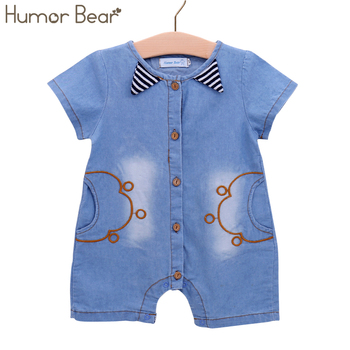 Humor Bear 2018 NEW Fashion Cartoon Jumpsuits Baby Boy Clothing Cowboy Style Casual Clothing Boy Clothes Children Clothing