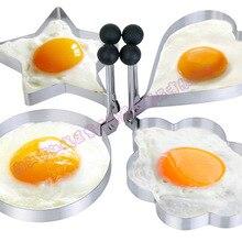 Новое поступление 4 шт./компл. Нержавеющая сталь сердце+ брюки с принтом звезд+ Круглый+ красочные декорации формы DIY обжаривание яиц для Egg Блин Кольцо